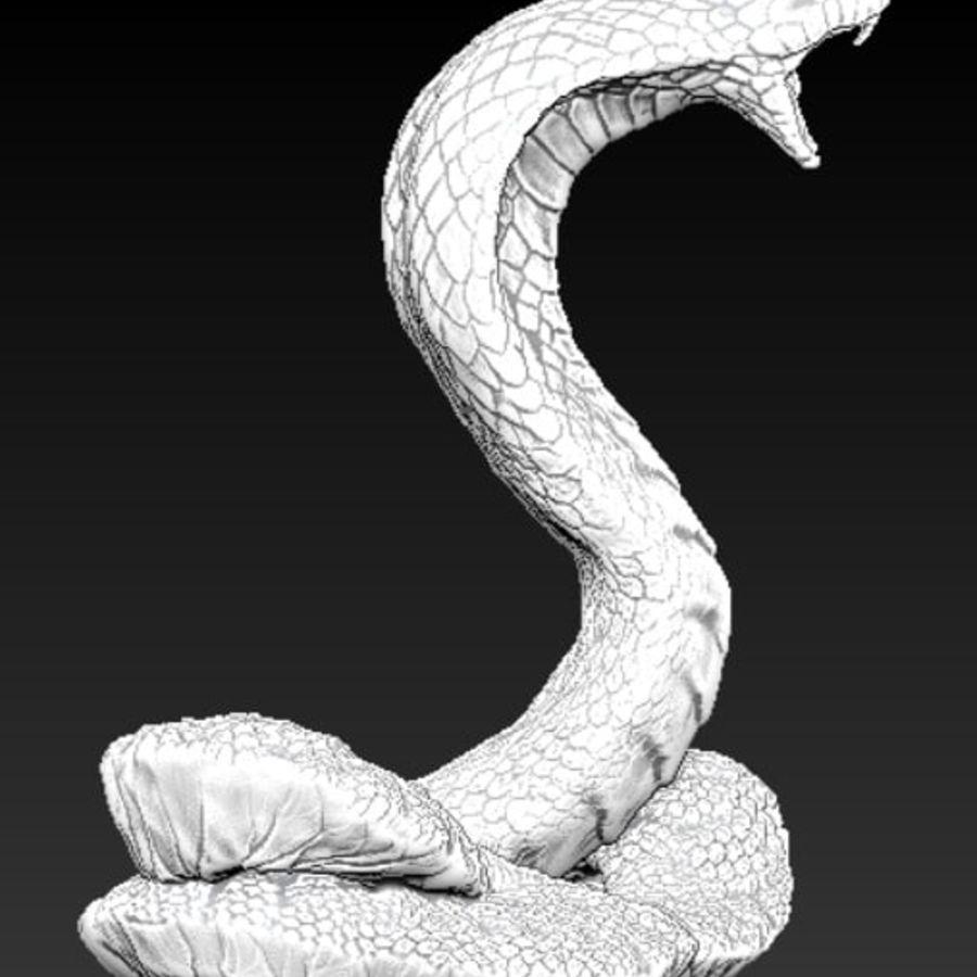 Королевская кобра royalty-free 3d model - Preview no. 3