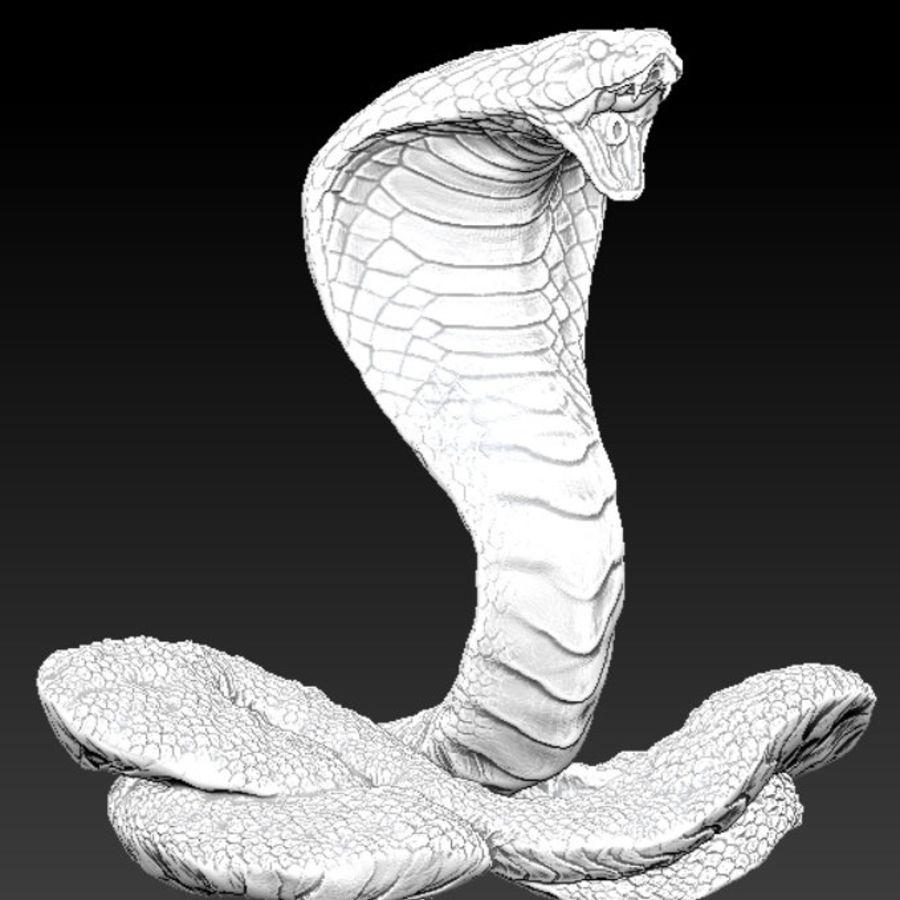 Королевская кобра royalty-free 3d model - Preview no. 1