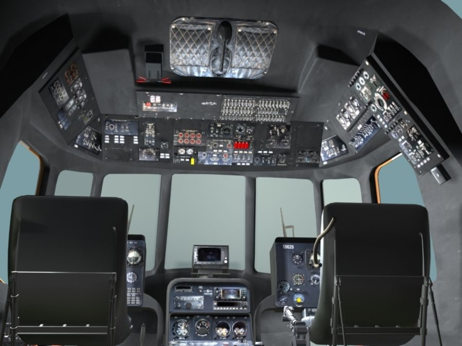 Mi7 Cockpit royalty-free 3d model - Preview no. 8