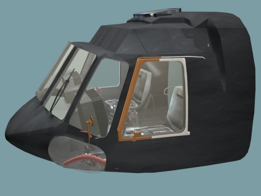 Mi7 Cockpit royalty-free 3d model - Preview no. 2