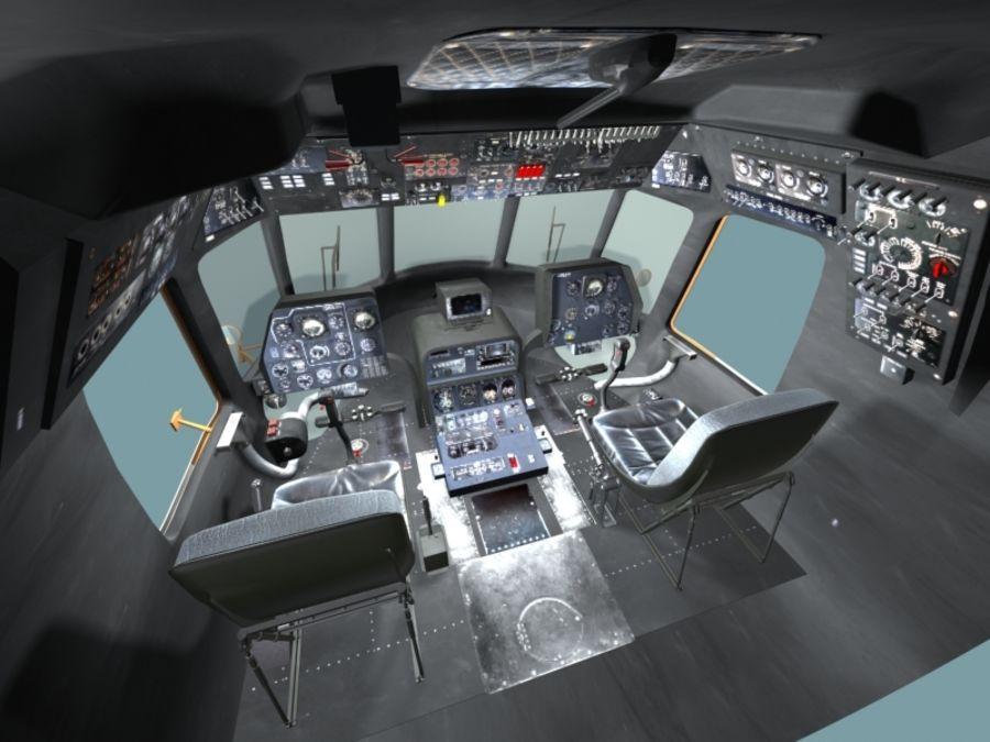 Mi7 Cockpit royalty-free 3d model - Preview no. 17