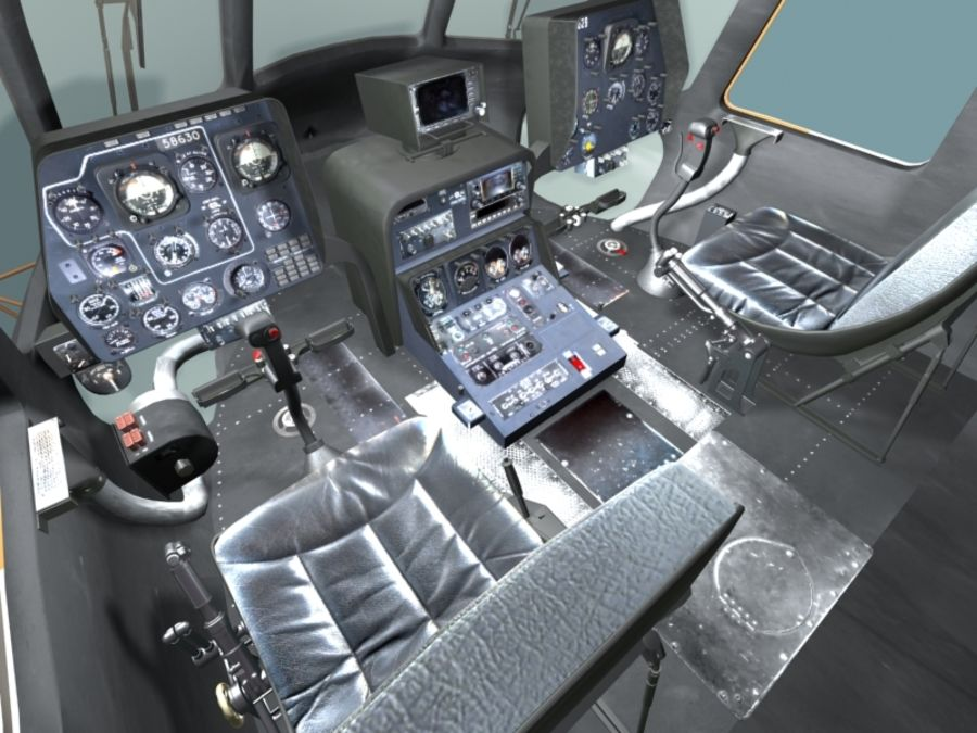 Mi7 Cockpit royalty-free 3d model - Preview no. 13