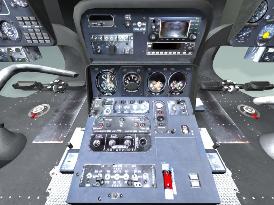 Mi7 Cockpit royalty-free 3d model - Preview no. 15