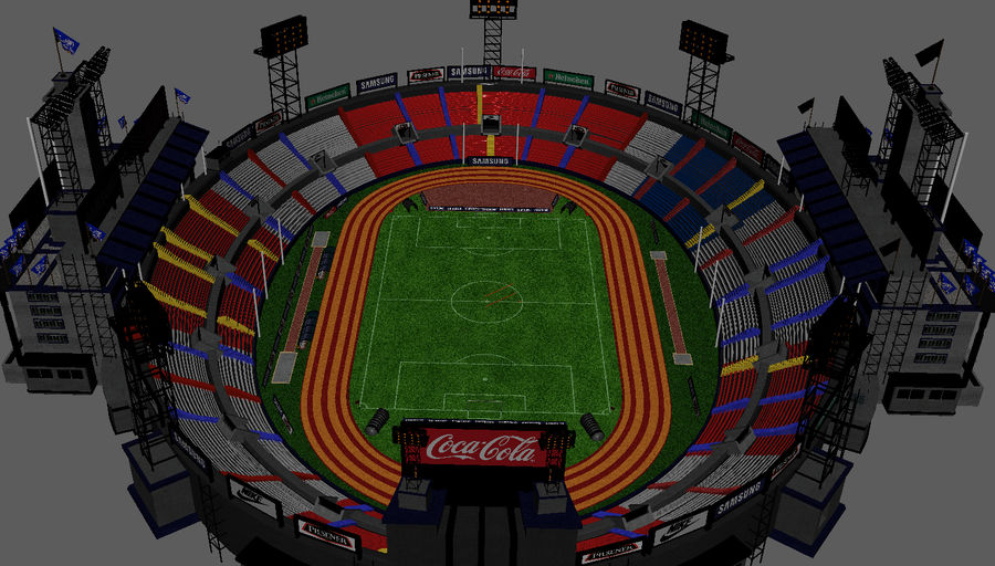Stade Olympique royalty-free 3d model - Preview no. 6