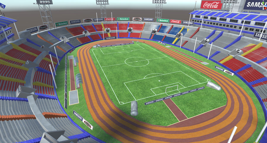 Stade Olympique royalty-free 3d model - Preview no. 4