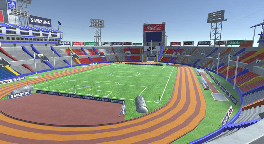Stade Olympique royalty-free 3d model - Preview no. 13
