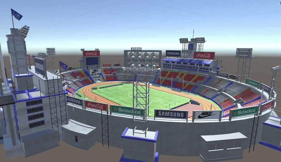 Stade Olympique royalty-free 3d model - Preview no. 11