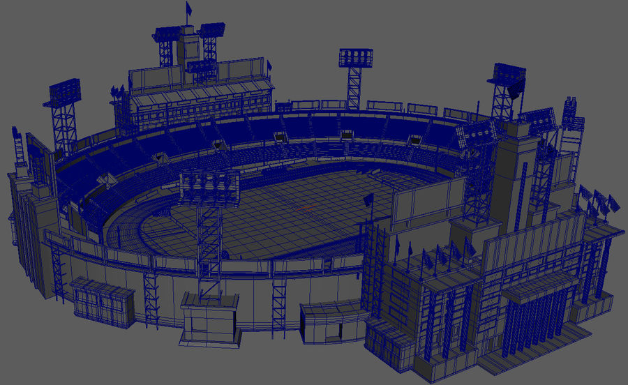 Stade Olympique royalty-free 3d model - Preview no. 8