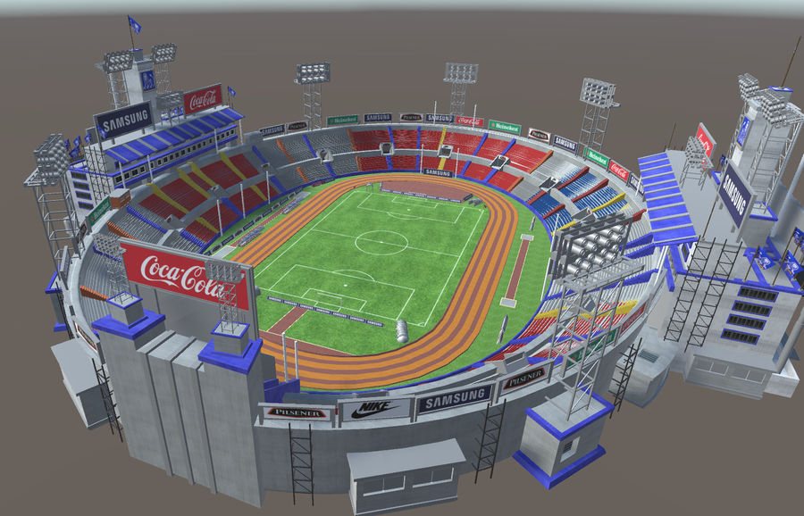 Stade Olympique royalty-free 3d model - Preview no. 10
