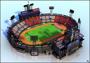 estadio Olimpico modelo 3d
