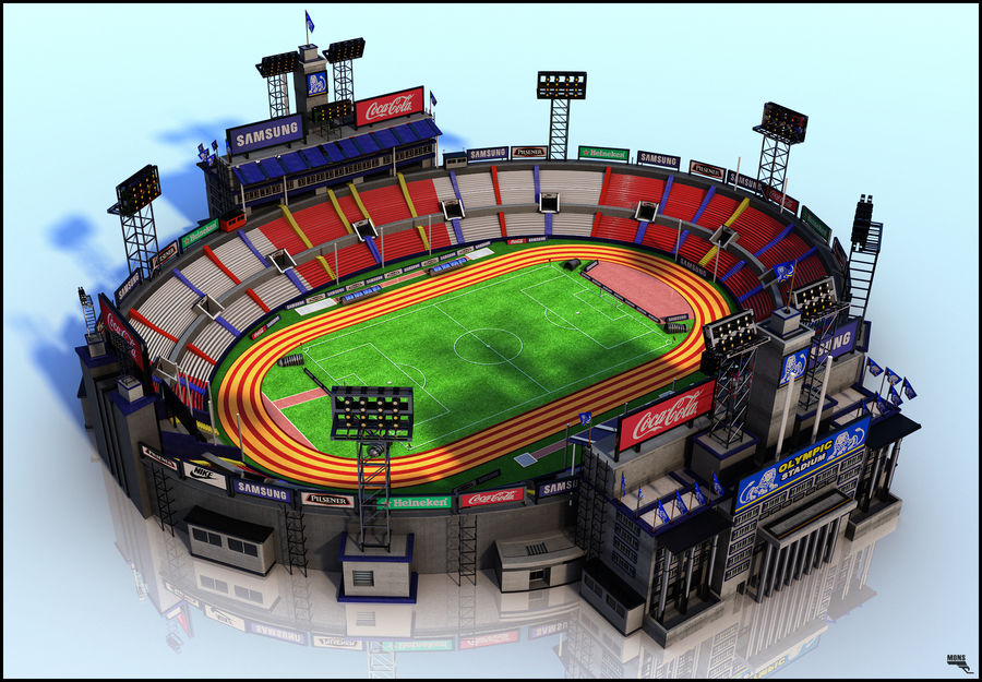Stade Olympique royalty-free 3d model - Preview no. 1