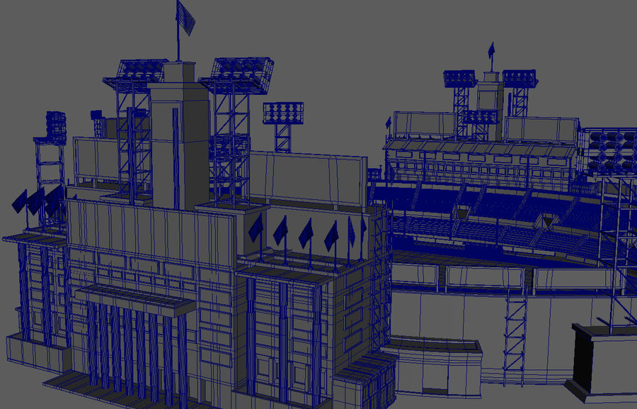 Stade Olympique royalty-free 3d model - Preview no. 9