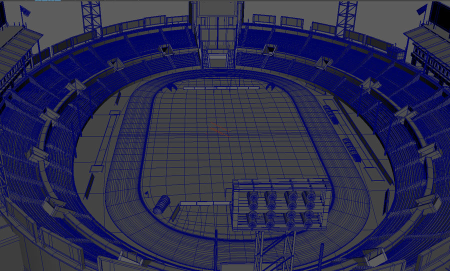 Stade Olympique royalty-free 3d model - Preview no. 14
