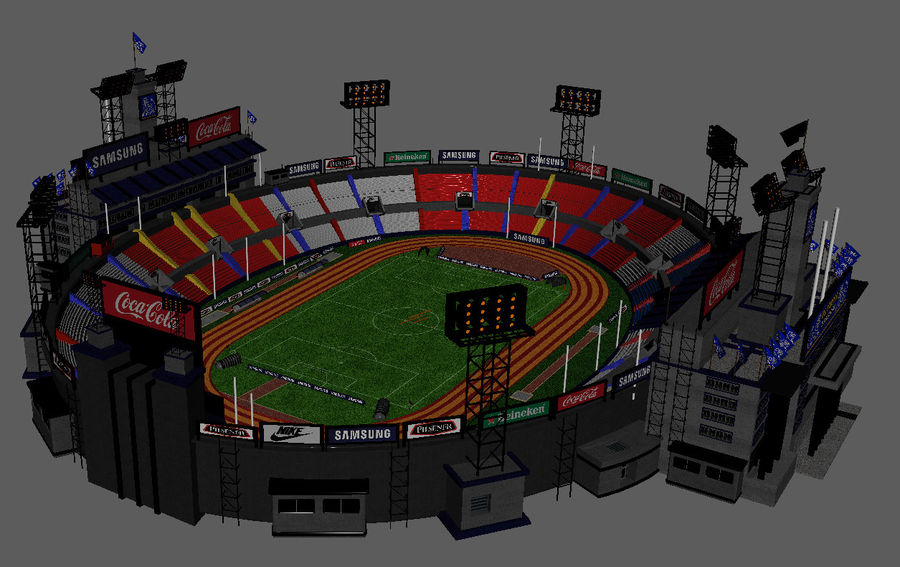 Stade Olympique royalty-free 3d model - Preview no. 5