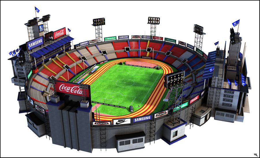 Stade Olympique royalty-free 3d model - Preview no. 2