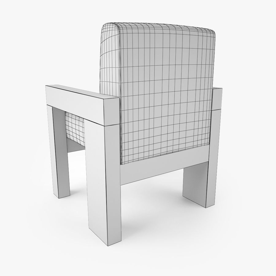 Restoration Hardware Bardenas Dining Table & Armchair royalty-free 3d model - Preview no. 12