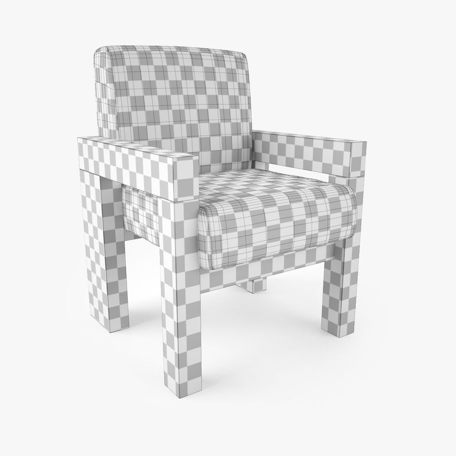 Restoration Hardware Bardenas Dining Table & Armchair royalty-free 3d model - Preview no. 10