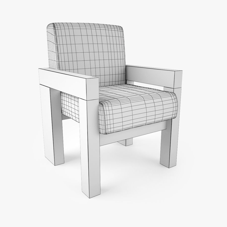 Restoration Hardware Bardenas Dining Table & Armchair royalty-free 3d model - Preview no. 11