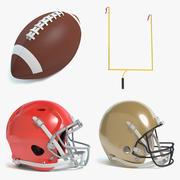 Football Set 3d model