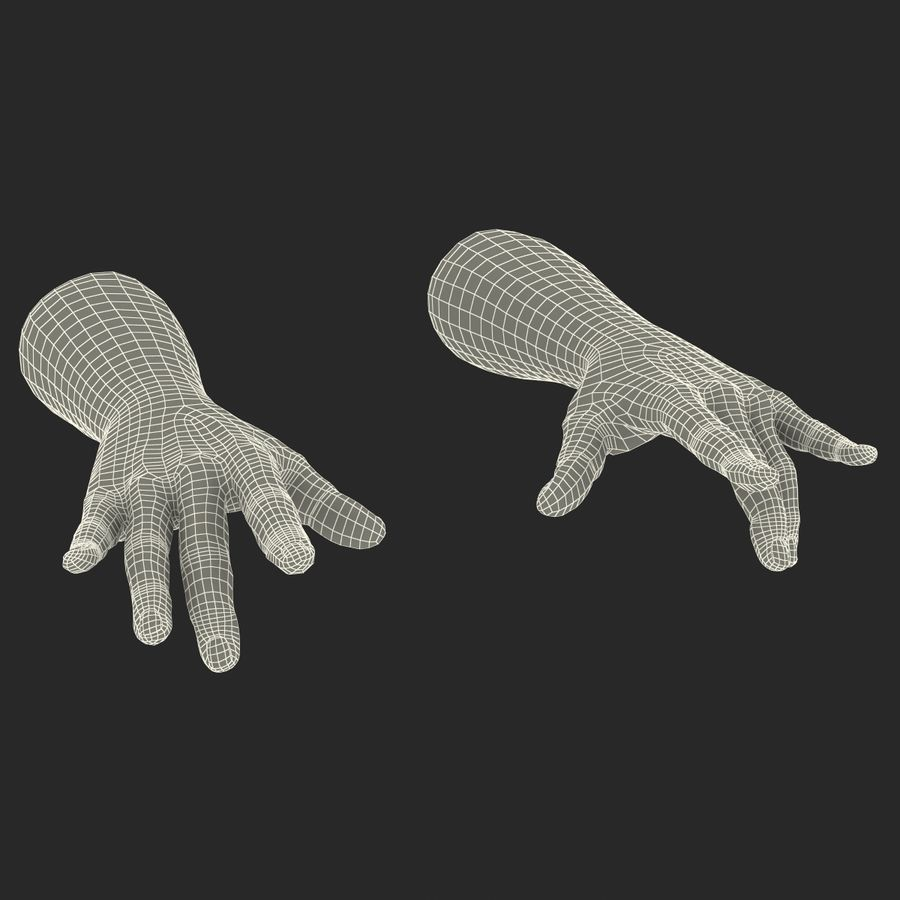 Man Hands 2 Pose 3 royalty-free 3d model - Preview no. 22