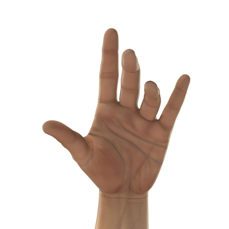 Man Hands 2 Pose 3 royalty-free 3d model - Preview no. 14