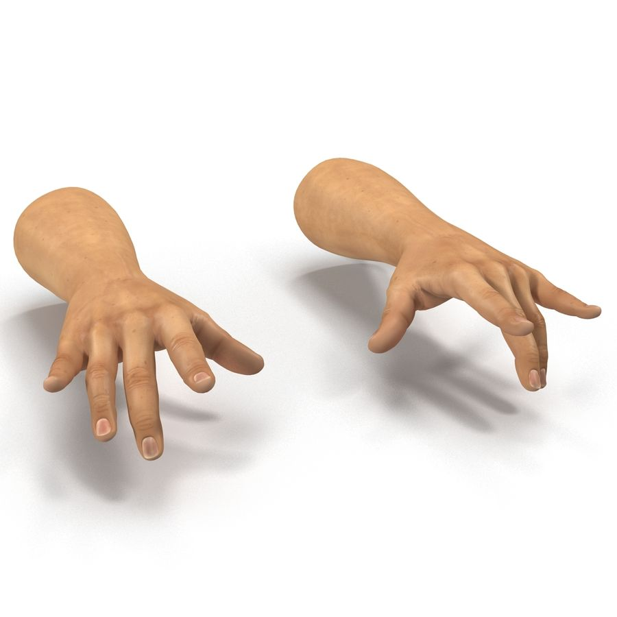 Man Hands 2 Pose 3 royalty-free 3d model - Preview no. 7