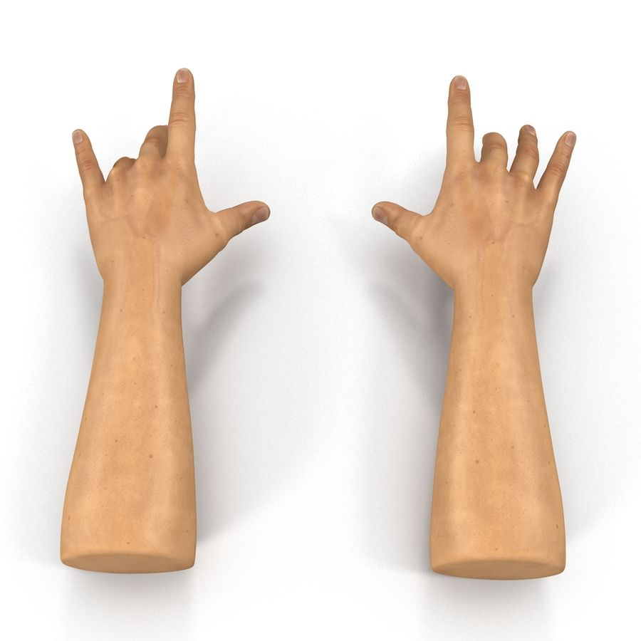 Man Hands 2 Pose 3 royalty-free 3d model - Preview no. 4