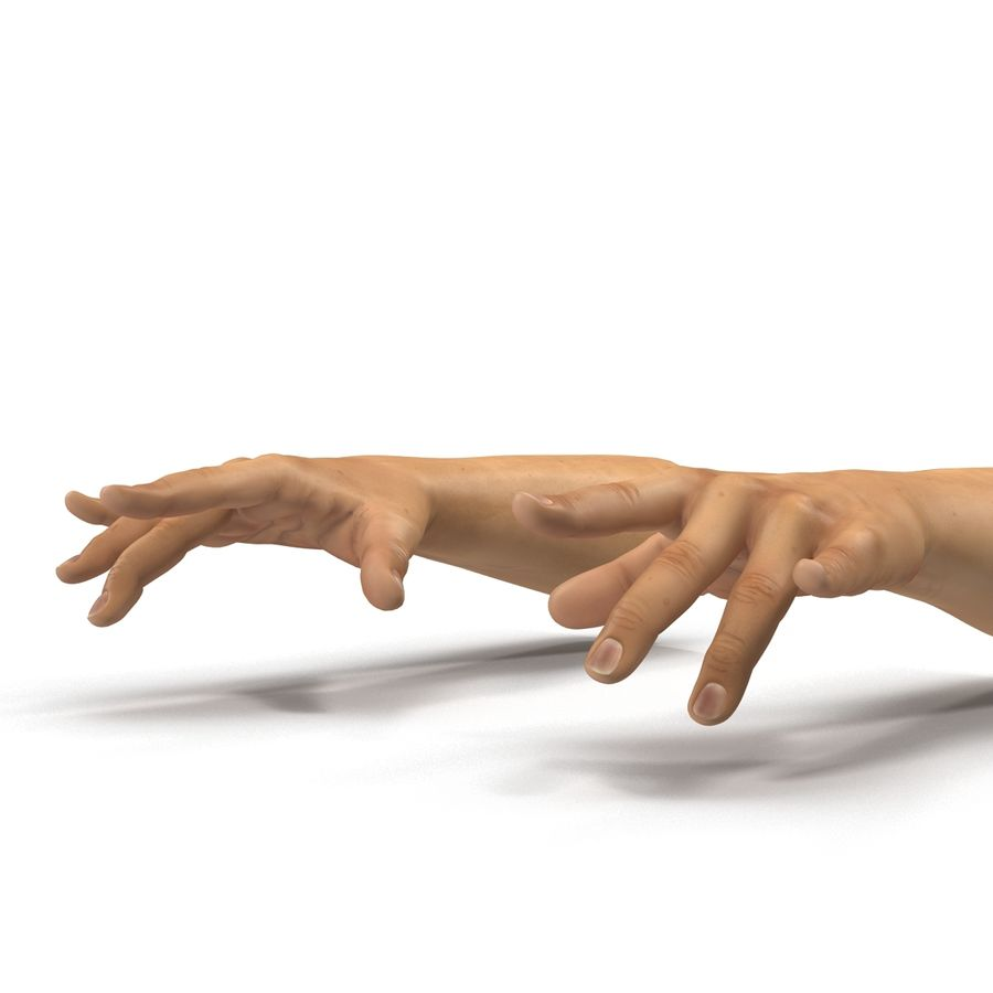 Man Hands 2 Pose 3 royalty-free 3d model - Preview no. 10