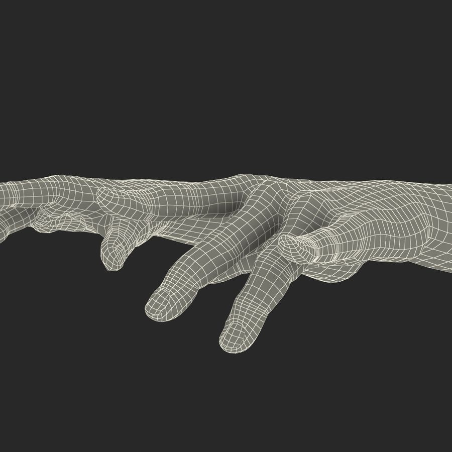 Man Hands 2 Pose 3 royalty-free 3d model - Preview no. 25
