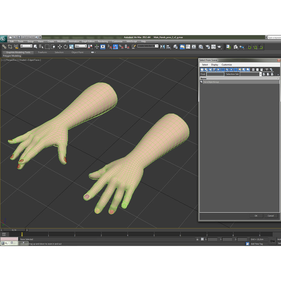 Man Hands 2 Pose 3 royalty-free 3d model - Preview no. 19