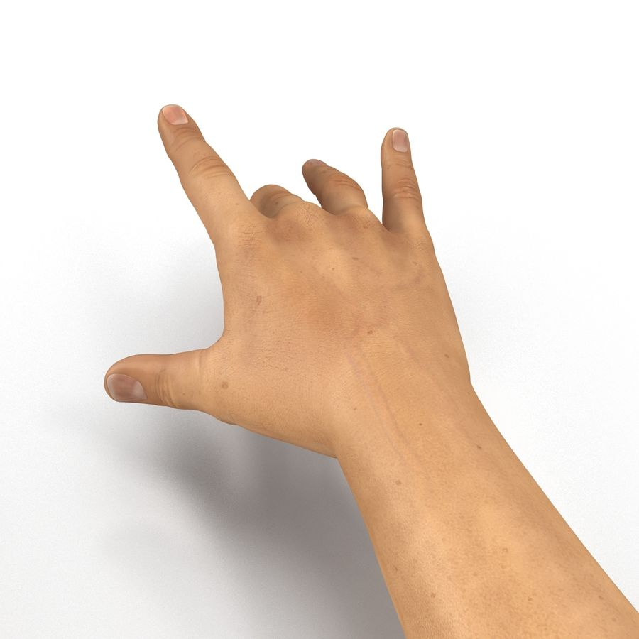 Man Hands 2 Pose 3 royalty-free 3d model - Preview no. 12