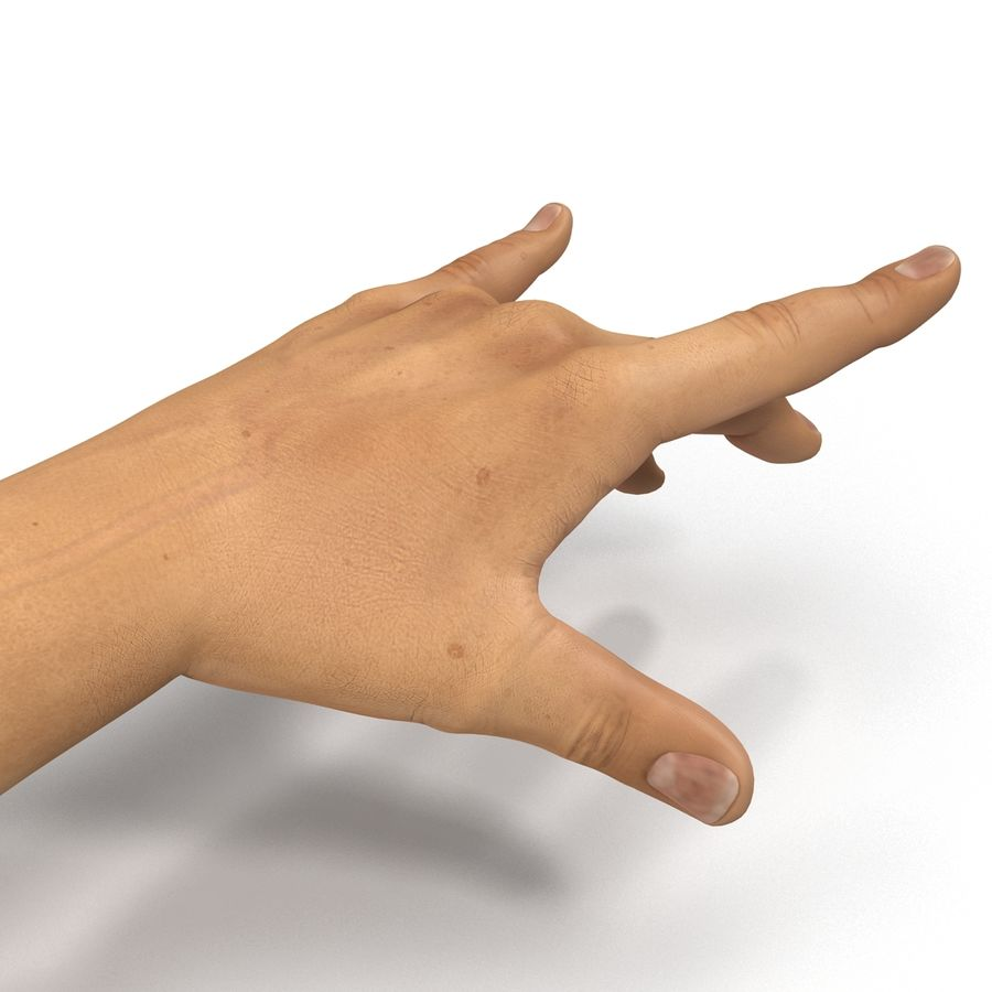 Man Hands 2 Pose 3 royalty-free 3d model - Preview no. 13