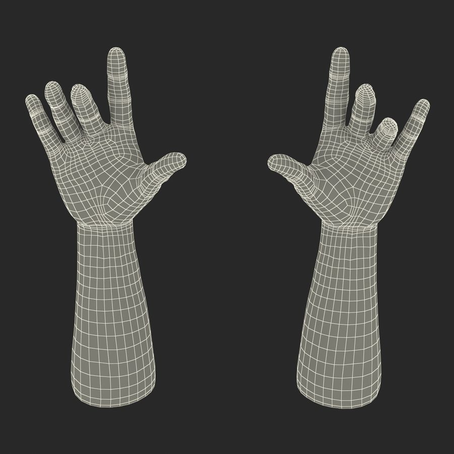 Man Hands 2 Pose 3 royalty-free 3d model - Preview no. 24