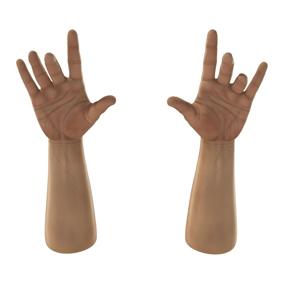 Man Hands 2 Pose 3 royalty-free 3d model - Preview no. 9