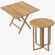 Patio Card Tables 3d model
