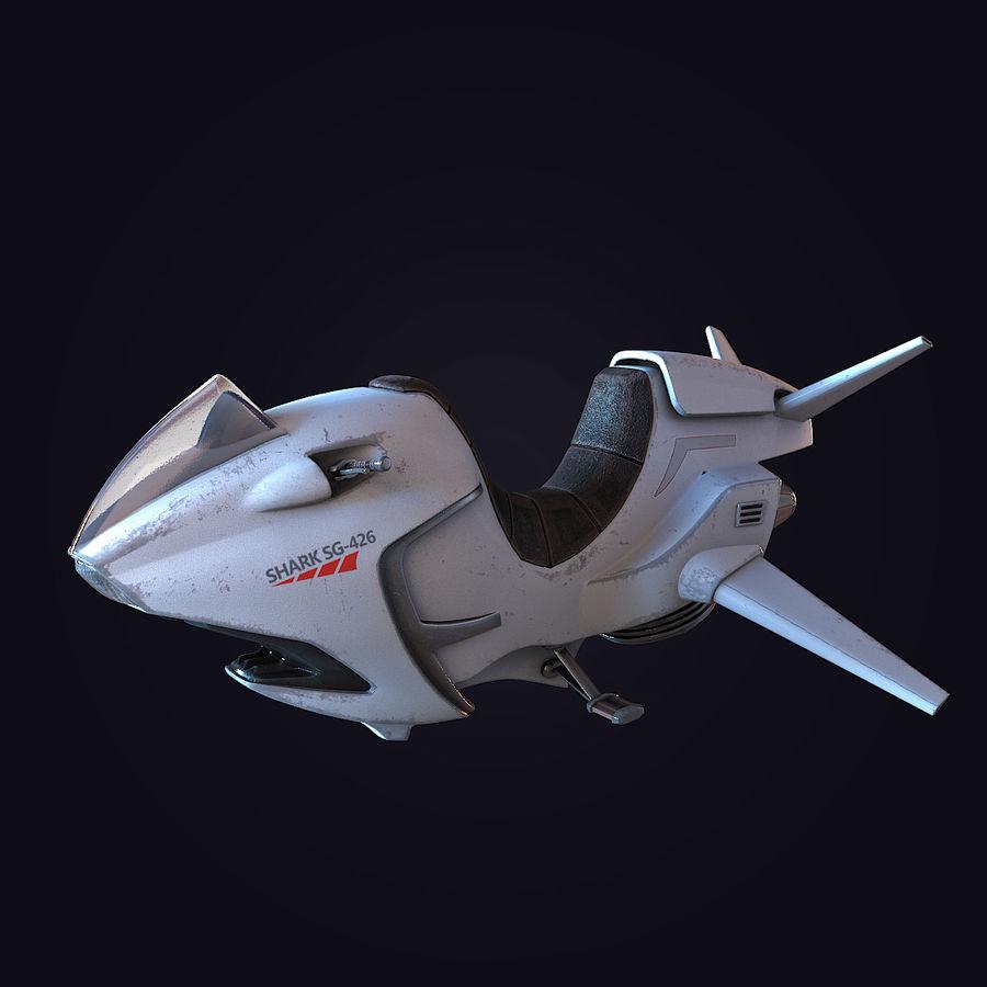 Hover Bike (Shark SG-426) royalty-free 3d model - Preview no. 11