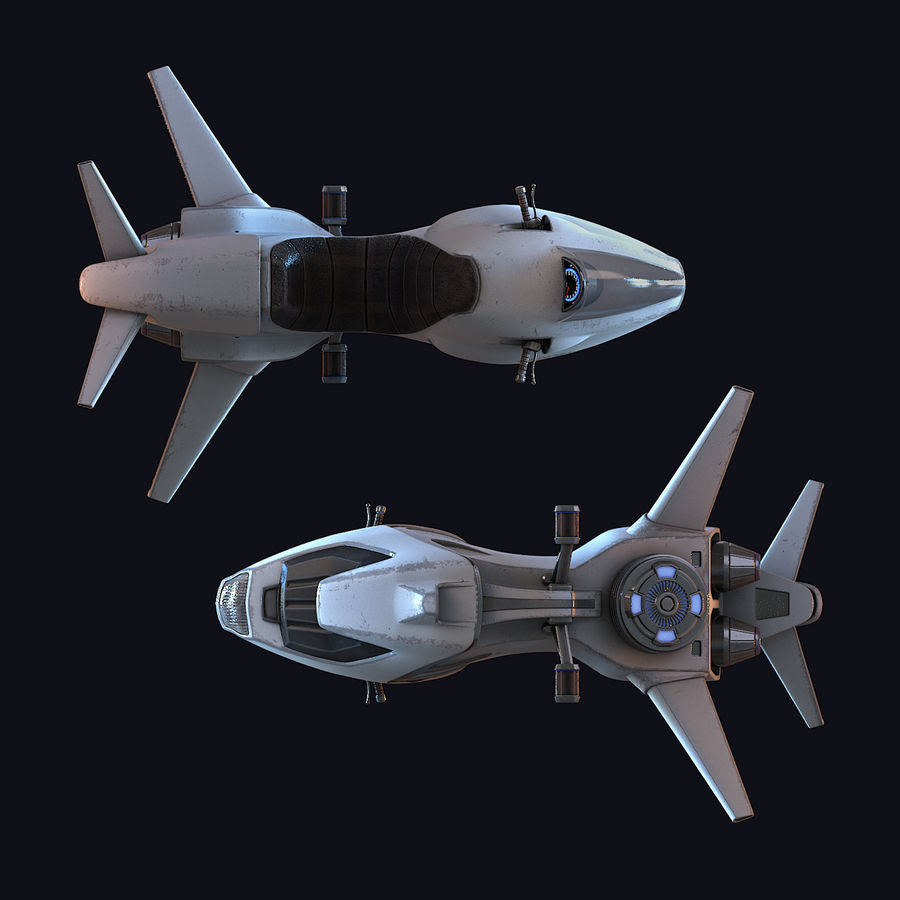 Hover Bike (Shark SG-426) royalty-free 3d model - Preview no. 21
