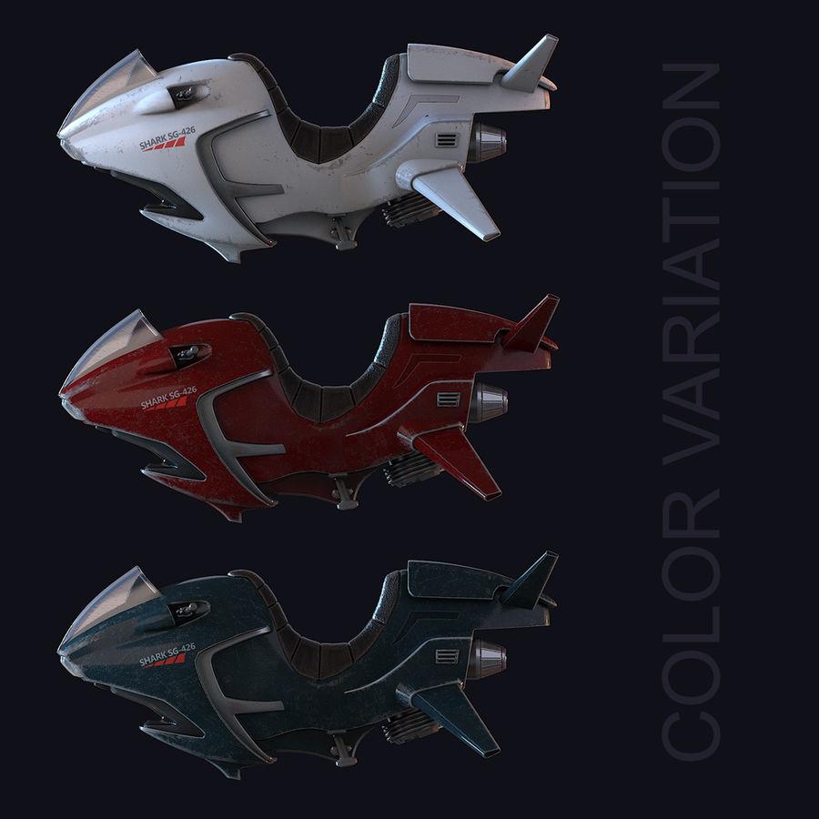 Hover Bike (Shark SG-426) royalty-free 3d model - Preview no. 22
