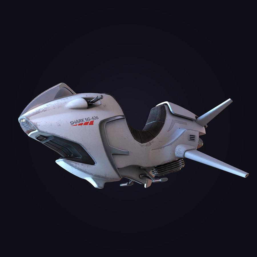 Hover Bike (Shark SG-426) royalty-free 3d model - Preview no. 1
