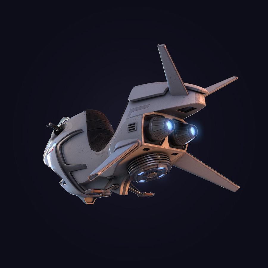 Hover Bike (Shark SG-426) royalty-free 3d model - Preview no. 14