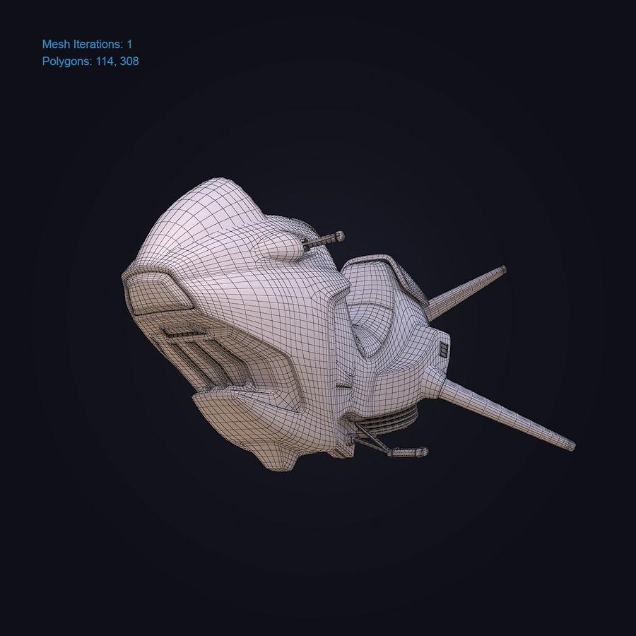 Hover Bike (Shark SG-426) royalty-free 3d model - Preview no. 6