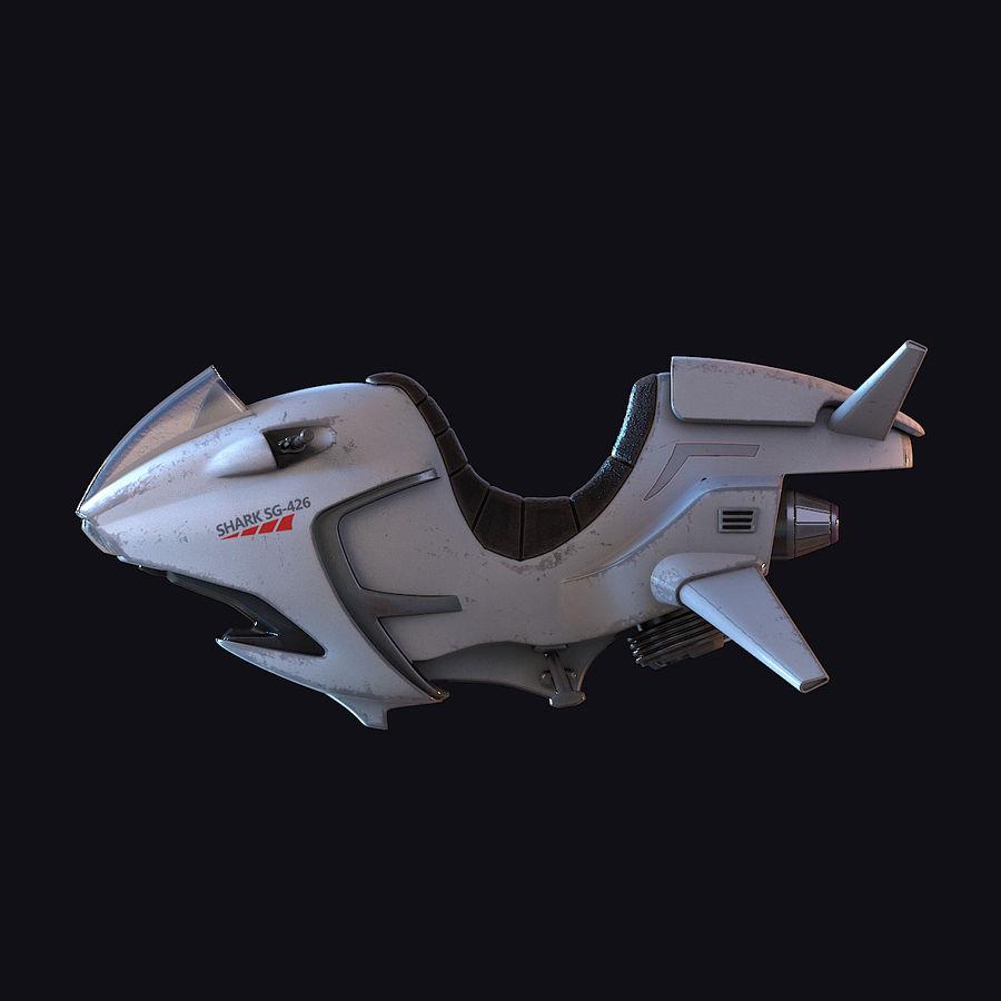 Hover Bike (Shark SG-426) royalty-free 3d model - Preview no. 7