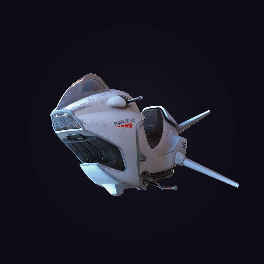 Hover Bike (Shark SG-426) royalty-free 3d model - Preview no. 4