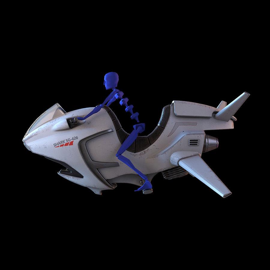Hover Bike (Shark SG-426) royalty-free 3d model - Preview no. 8
