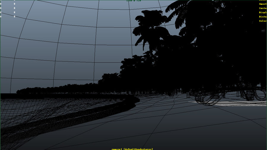 Cartoon beach royalty-free 3d model - Preview no. 4