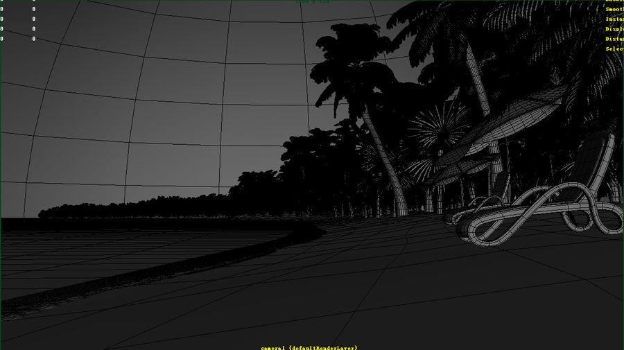 Cartoon beach royalty-free 3d model - Preview no. 5