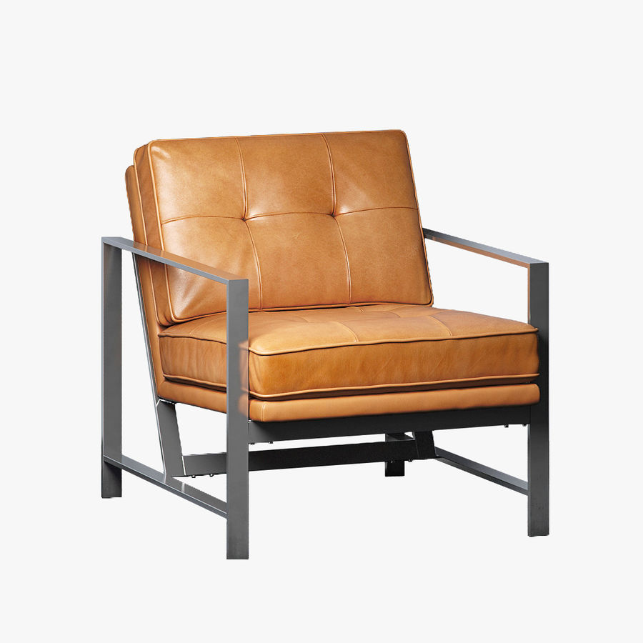 Stuhl Aus Leder Mit Metallgestell 3d Modell 49 Max Obj