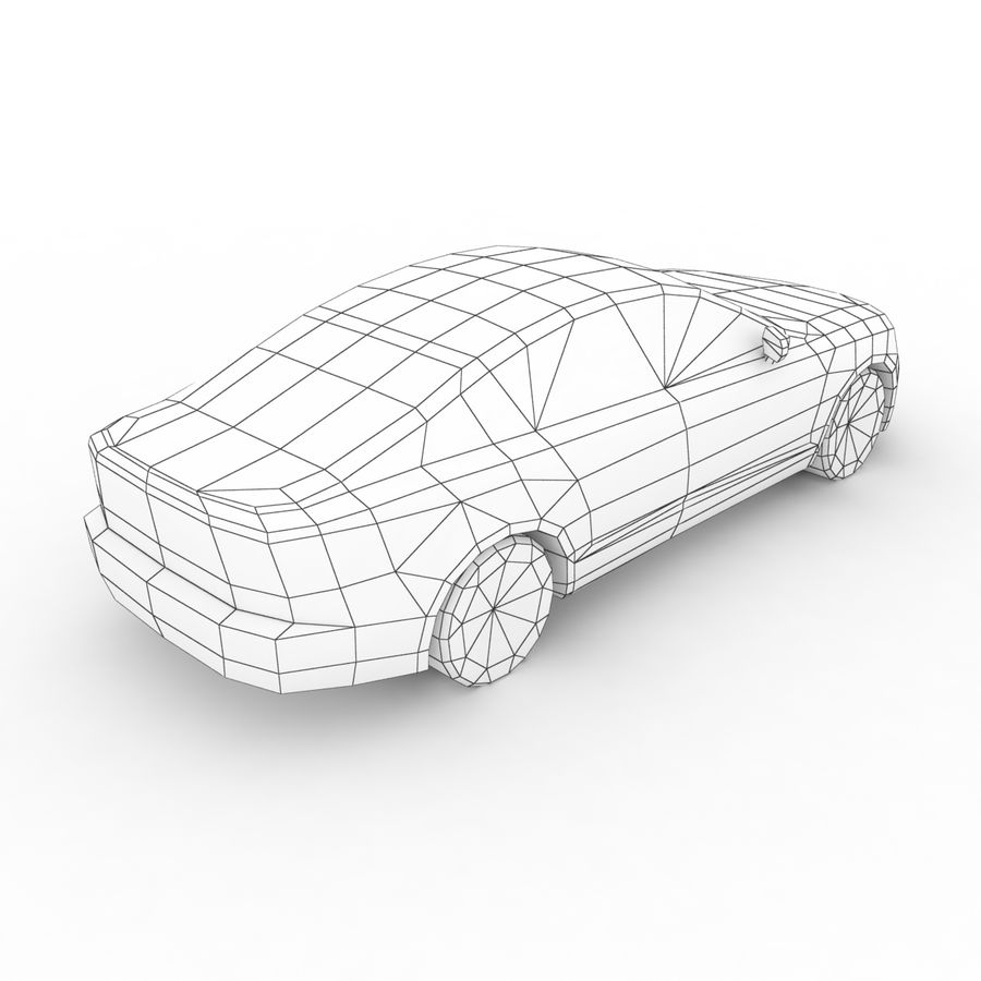 Volvo S90 2017 royalty-free 3d model - Preview no. 8