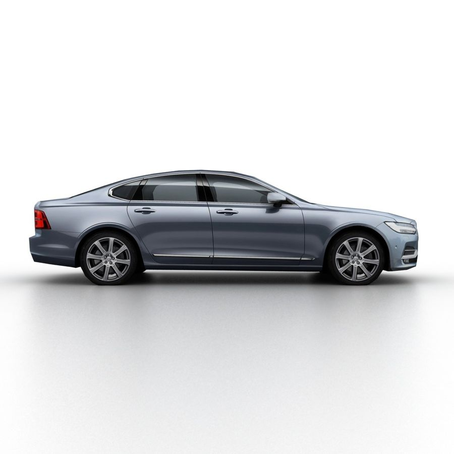 Volvo S90 2017 royalty-free 3d model - Preview no. 3
