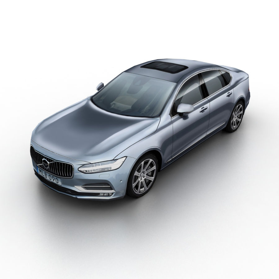 Volvo S90 2017 royalty-free 3d model - Preview no. 1